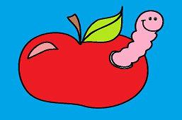 Červík v jablku