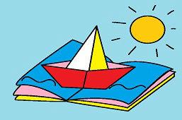 Loďka v knižke