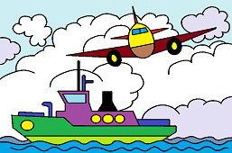 Lietadlo a loď