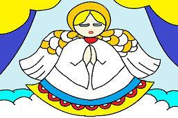 Anjel v okne