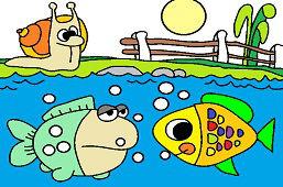 Slimáčik a rybky