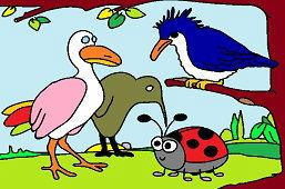 Lienka a vtáky