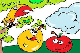 Ovocie pod stromom