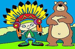 Indián a medveď