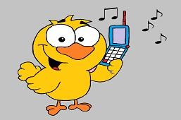 Kuriatko s telefónom