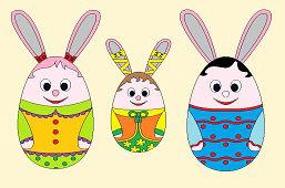 Traja Veľkonoční zajkovia