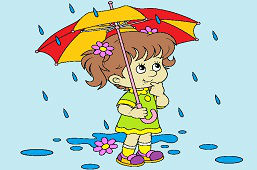 Dievčatko v dáždi