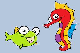 Rybka a morský koník