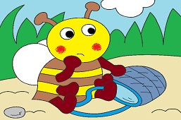 Včielka s košíkom