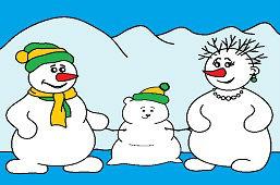 Snehuliacka rodinka