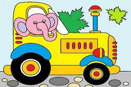 Sloník traktorista