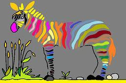 Pestrofarebná zebra