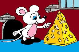 Myš a hrudka syra
