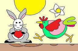 Zajac a sliepka