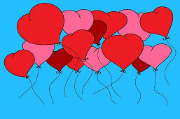 Srdcové balóny