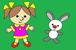 Bábika a zajačik