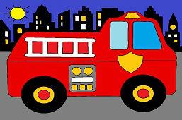 Požiarnici v meste