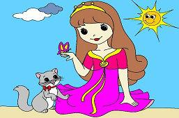 Dievčatko s motýľom