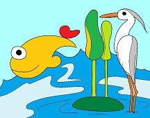 Volavka a ryba