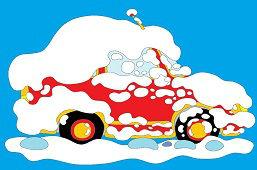 Zasnežené auto