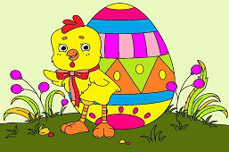 Kuriatko s vajíčkom