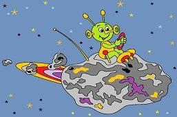 Mimozemšťan na asteroide