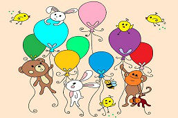 Zvieratká s balónmi