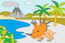 Styracosaurus v prírode