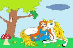 Princezná a koník