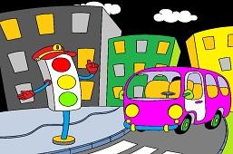 Autobus a semafor