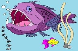 Morský čert a zlatá rybka
