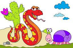 Veľký had a slimák