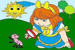 Dievčatko s lupou