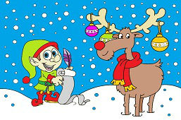 Škriatok a vianočný sob