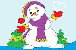 Snehuliak so šálom