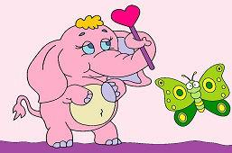 Sloník a motýlik