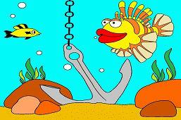 Ryba s červenými perami
