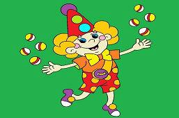 Žonglovací klaun
