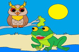 Žabka a múdra sova