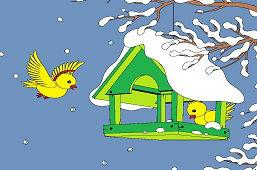 Vtáčiky v krmidle