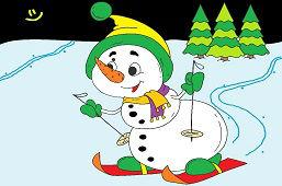 Snehuliačik na lyžiach