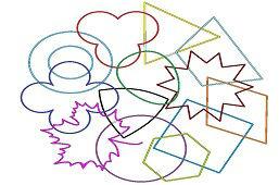 Mix geometrických tvarov