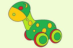 Drevený dinosaurus