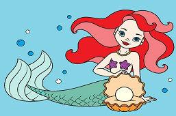 Morská panna s perlou